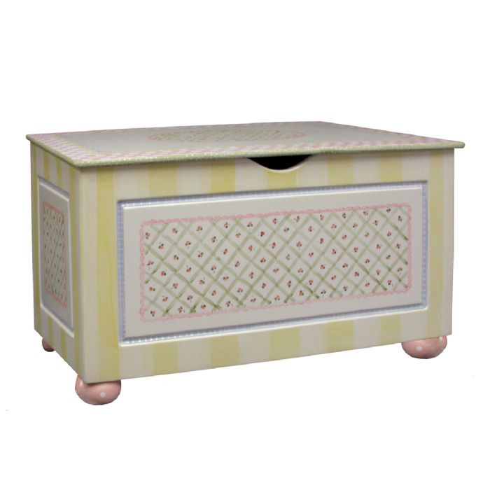 Toy Chest with Bun Foot in Serendipity by AFK Art For Kids