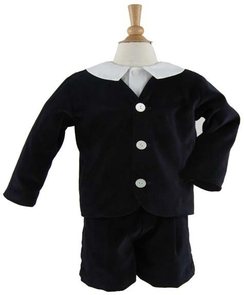 Velvet Eton Suit with Shorts by Katie & Co/Gordon & Co