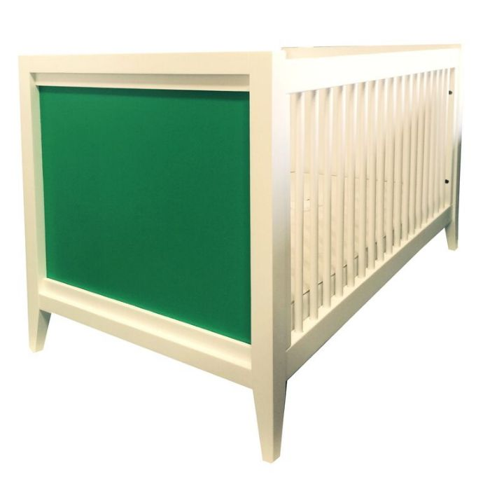 Casey Crib in White with Kelly Green by Newport Cottages