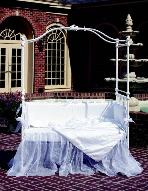 Bunny Iron Canopy Crib by Corsican